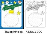 preschool worksheet for... | Shutterstock .eps vector #733011700