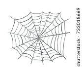 spiderweb  web spider vector... | Shutterstock .eps vector #733018669