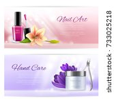 horizontal beauty banners of... | Shutterstock .eps vector #733025218