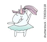illustration of unicorn... | Shutterstock . vector #733026118