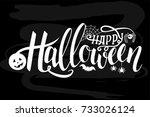 illustration of halloween on... | Shutterstock . vector #733026124