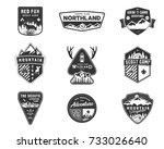 traveling  outdoor badge... | Shutterstock .eps vector #733026640
