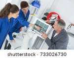 learning air conditioning repair | Shutterstock . vector #733026730