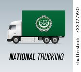 symbol of national delivery... | Shutterstock .eps vector #733027930