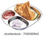 stock vector illustration of... | Shutterstock .eps vector #733030963