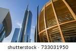 unicredit tower and unicredit... | Shutterstock . vector #733031950