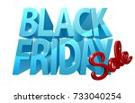 a black friday sale design with ... | Shutterstock .eps vector #733040254
