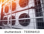 commercial cooling hvac air... | Shutterstock . vector #733046413