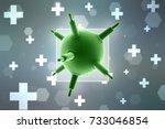3d rendering viruses in... | Shutterstock . vector #733046854