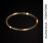 vector round frame. shining...   Shutterstock .eps vector #733047088