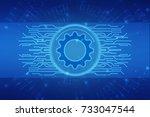 digital abstract technology...   Shutterstock . vector #733047544