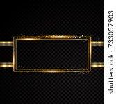 vector rectangle frame. shining ... | Shutterstock .eps vector #733057903