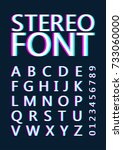 font with stereoscopic effect.... | Shutterstock .eps vector #733060000
