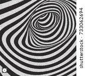 tunnel. black and white... | Shutterstock .eps vector #733062694