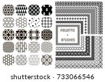 collection of 20 black... | Shutterstock .eps vector #733066546
