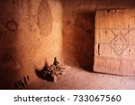 kasbah   old houses  morocco   Shutterstock . vector #733067560