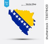 simple map of bosnia and... | Shutterstock .eps vector #733078420