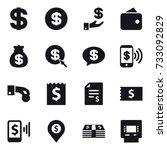 16 vector icon set   dollar ... | Shutterstock .eps vector #733092829
