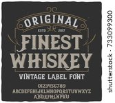 vintage label typeface named ... | Shutterstock .eps vector #733099300