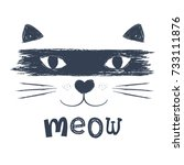cute cat vector design.animal... | Shutterstock .eps vector #733111876