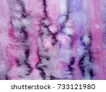 watercolor abstraction with raw ... | Shutterstock . vector #733121980