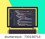 programming and coding concept. ...