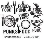 punks food | Shutterstock .eps vector #733139404