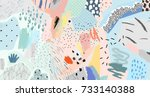 creative art header with... | Shutterstock .eps vector #733140388