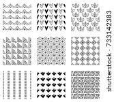 set of seamless vector patterns....   Shutterstock .eps vector #733142383