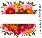 illustration of greeting or... | Shutterstock .eps vector #733145908