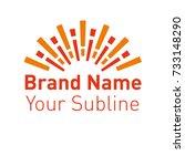 modern flat logo template.... | Shutterstock .eps vector #733148290