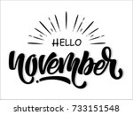 hello november | Shutterstock .eps vector #733151548