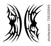 tattoo tribal vector design.... | Shutterstock .eps vector #733153543