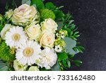 flower bouquet. fresh cut... | Shutterstock . vector #733162480