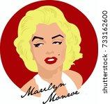 Vector Hand Draw Marilyn Monro...