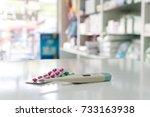 drug prescription for treatment ... | Shutterstock . vector #733163938
