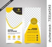 business roll up. standee... | Shutterstock .eps vector #733164343