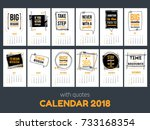 calendar with inspiring quotes... | Shutterstock .eps vector #733168354