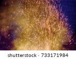 element of fire  huge night... | Shutterstock . vector #733171984