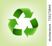 recycle logo | Shutterstock .eps vector #733173844