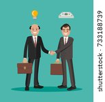 men in a business transaction.... | Shutterstock .eps vector #733188739
