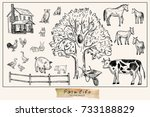 vector illustration. pen style... | Shutterstock .eps vector #733188829