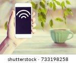 hotspot. | Shutterstock . vector #733198258