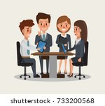 teamwork business people... | Shutterstock .eps vector #733200568