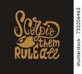 scorpio. hand drawn typography... | Shutterstock .eps vector #733206463