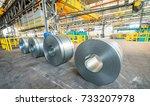 metal coils in industrial...   Shutterstock . vector #733207978