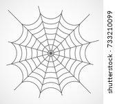 gray cobweb isolated on light...   Shutterstock .eps vector #733210099