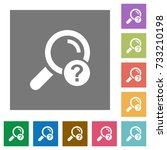 unknown search flat icons on...   Shutterstock .eps vector #733210198