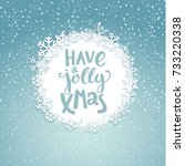 jolly christmas greeting card... | Shutterstock .eps vector #733220338