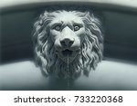 Marble Lion Fountain   With A...